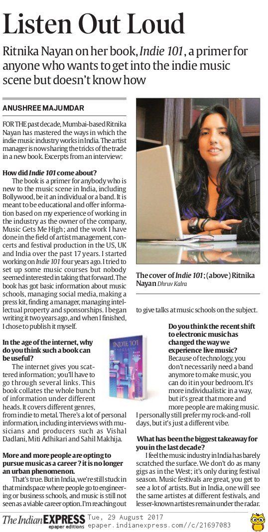 Indian Express - Delhi, Chandigarh ,Mumbai - Aug'17